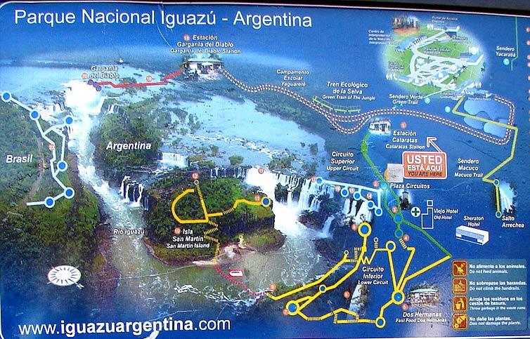 Cataratas De Iguazu Lado Argentino Mapa.Cataratas Del Iguazu 2007 Cataratas Mapas